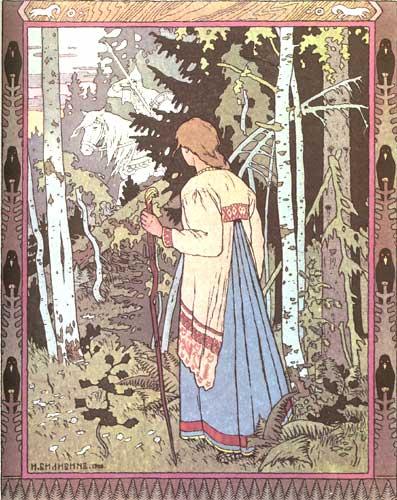 Ivan Bilibin - Vasilissa e il Cavaliere Bianco