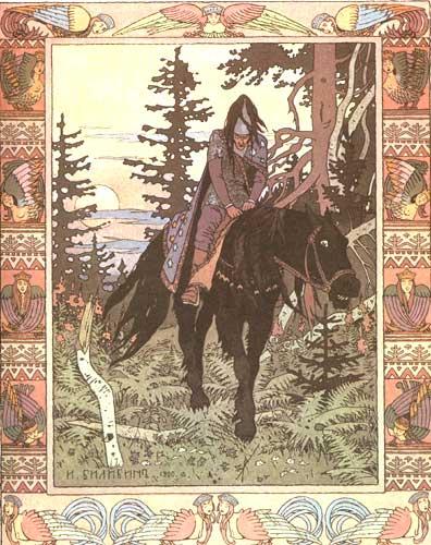 Ivan Bilibin - Il Cavaliere Nero