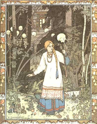Ivan Bilibin - Vasilissa e il teschio